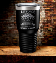Air Force Defenders Of Freedom Tumbler