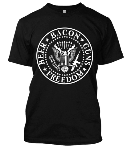 Beer Bacon Guns Freedom T-Shirt