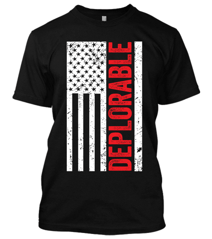 Deplorable US Flag T-shirt