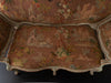 VENETIAN SETTEE WITH EARLY 20TH C HAND EMBROIDERED TAPESTRY