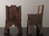 Pair of Aztec Revival Throne Chairs