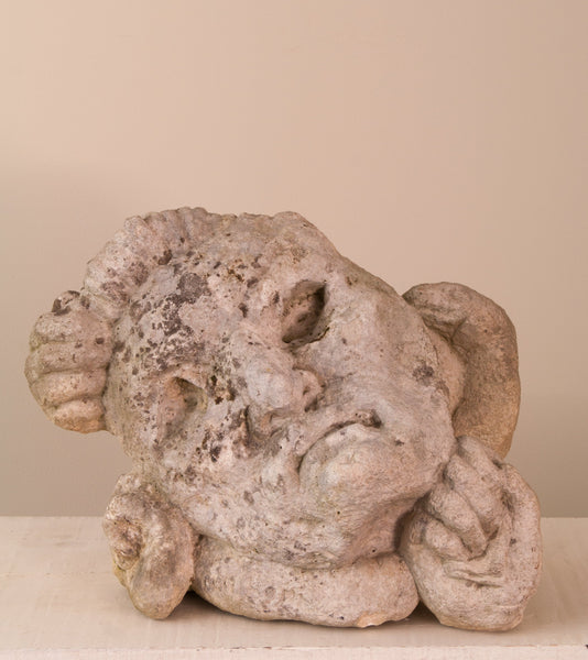 19C GROTESQUE STONE MASK
