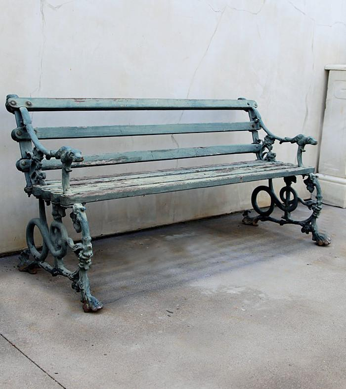 19th Century Cast Iron Bench