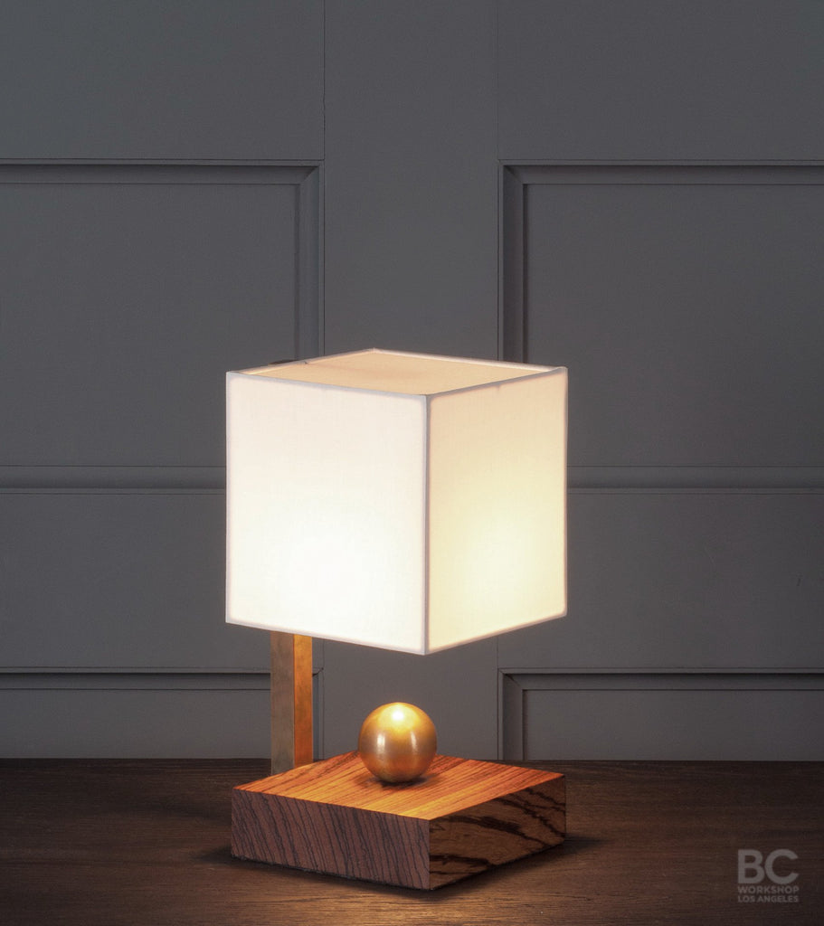 Brass Ball Zebra Boudoir Table Lamp