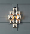 3-Squared Sconce, Nickel