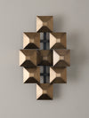 3-Squared Sconce, Brass