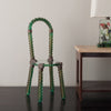 ARCHIMEDE SEGUSO GLASS AND BRONZE SIDE CHAIR
