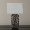 BCW VERTICAL STUDDED LAMP WITH SILVERED PATINA BY LIKA MOORE