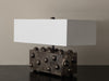 BC WORKSHOP SILVERED STUDDED LAMP BY LIKA MOORE
