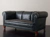 BRITISH RACING GREEN GENTLEMAN'S SOFA WITH TALL SABOTS (2 of 2)