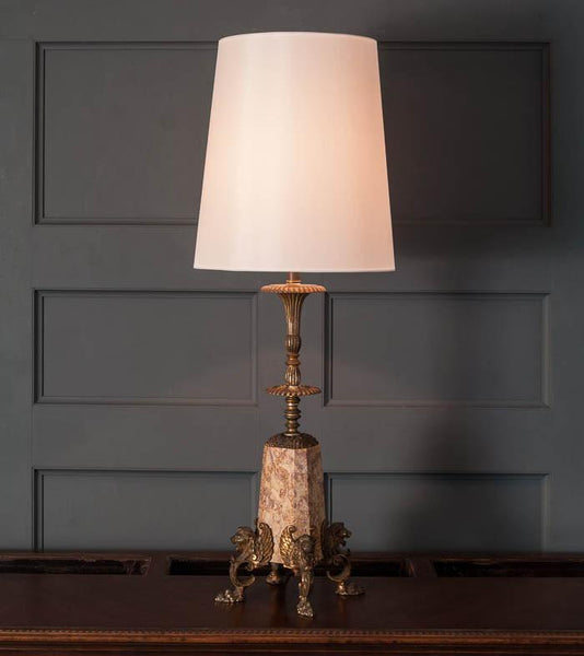 Bronze and Marble Classical Table Lamp