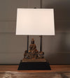 Buddhist Deity, Guan Yin upon Dolphin Table Lamp