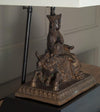 Bbuddhist Deity, Guan Yin Upon Unicorn Table Lamp