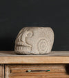 Colonial Skull Mortar with Pre Columbian Decorative Carvings