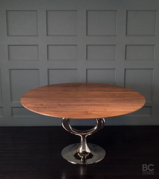 Round Op Table, Nickel