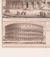 Engraving of Colosseum in Rome