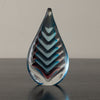 FLAVIO POLI SOMMERSO TEARDROP WITH CHEVRON PATTERN