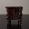 WHIMSICAL FOLK ART FIGURED CABINET