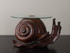 FEDERICO ARMIJO SNAIL TABLE WITH GLASS TOP