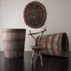 OAK BARREL PLANTER, LARGE