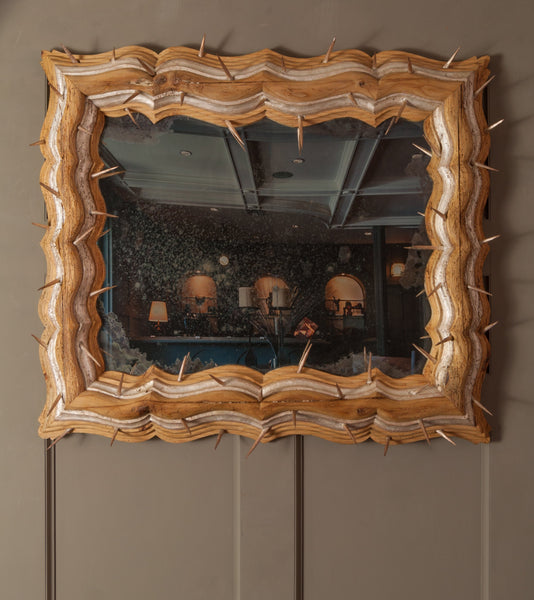 'Fidelis' framed thorned mirror