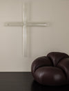 Large GLASS CROSS SCULPTURE