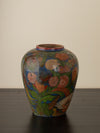 HAND PAINTED CERAMIC VASE, SMALL