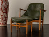 IB KOFOD-LARSEN ELIZABETH U-56 CHAIR AND OTTOMAN