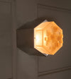 Italian Hexagonal Glass Sconces, LARGE