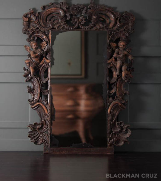 Richly Carved Baroque Mirror