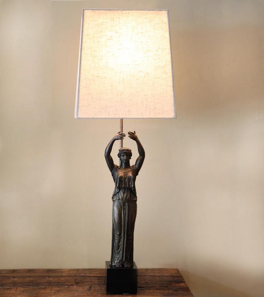 Classical Figure of a Greek Woman Table Lamp