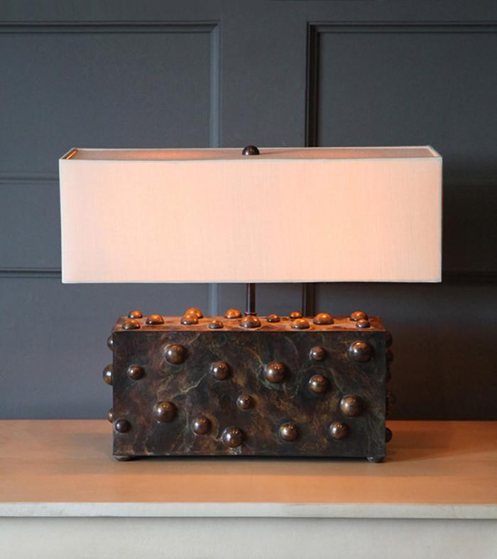 Studded Table Lamp, Large Horizontal