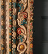 18th c. Large Peruvian Polychromed Nicho Mirror