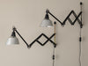 PAIR OF SCISSOR LAMPS BY CURT FISCHER FOR MIDGARD
