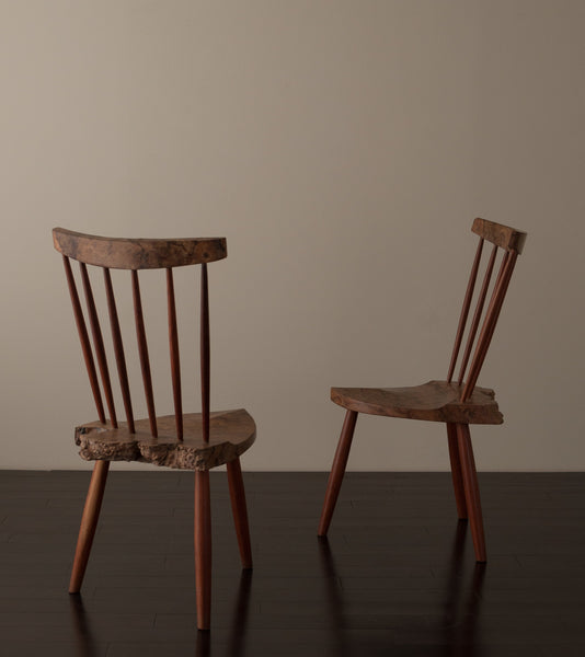 Pair of Side Chairs nn the style of Nakashima