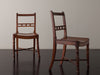 PAIR OF CONTINENTAL BURLWOOD SEAT SIDE CHAIRS, 19TH CENTURY