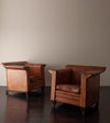 Pair of BART VAN BEKHOVEN CLUB CHAIRS Fin Armed Club Chairs