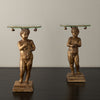 PAIR OF GILDED PUTTI SIDE TABLES