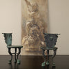 PAIR OF NEOPOLITAN GRAND TOUR BRONZE CHAIRS