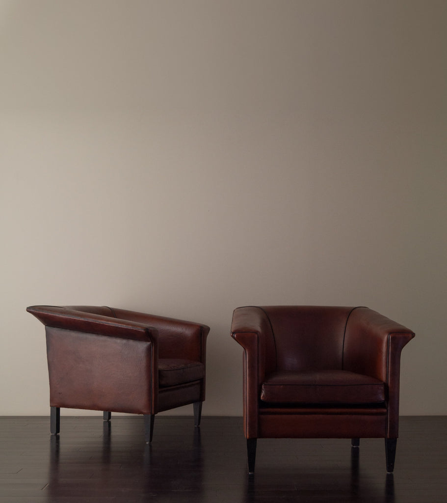 Delightful PAIR OF ITALIAN FIN SHAPED ARM CHAIRS