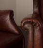PAIR OF ITALIAN WINGBACK CLUB CHAIRS