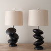 PAIR OF ZEN STONE LAMPS BY JOSE DIAZ