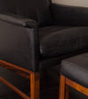 Pair of Søborg Møbler Lounge Chairs with Ottomans