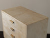 PARCHMENT COVERED Four DRAWER CHEST
