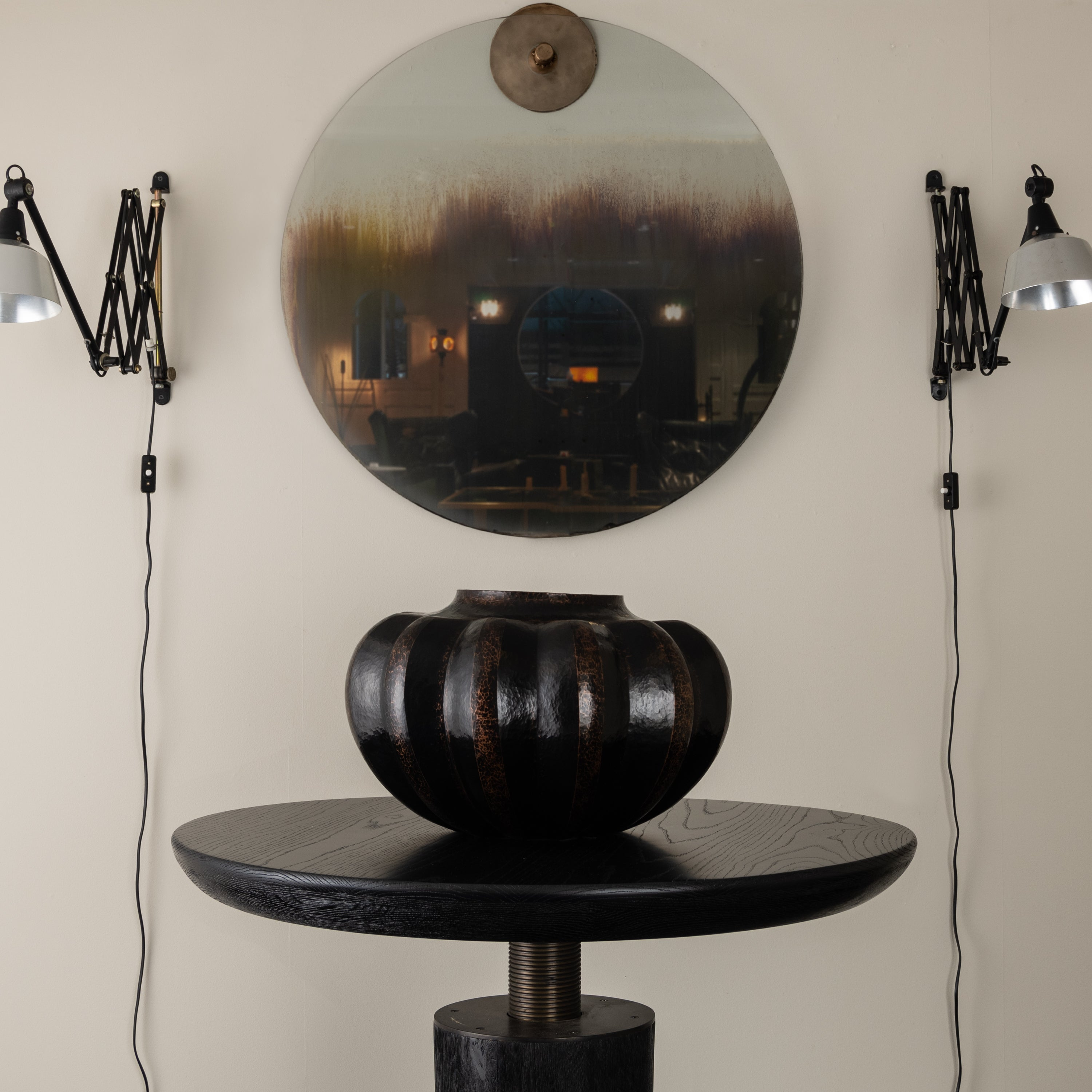 PARISON ROUND MIRROR BY GREGORY NANGLE