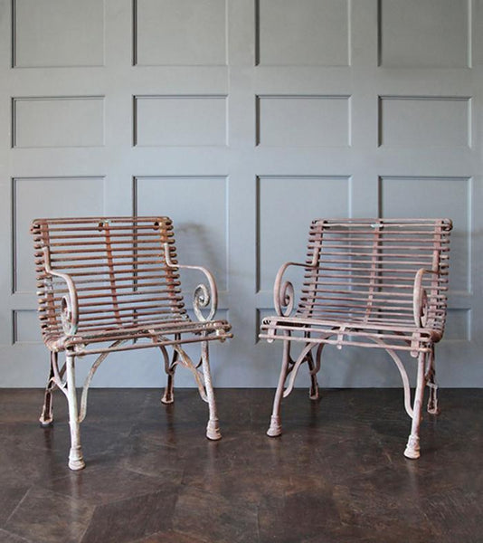 Pair of Iron Garden Armchairs