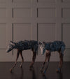Kevin Lockau, Pair of Coyote Sculptures