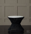 PATIO ROUND TABLE, BLACK BY LIKA MOORE