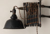RARE INDUSTRIAL EXTENSION SCISSOR LAMP BY FA HARDY