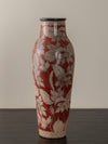 RED HAND PAINTED CERAMIC TONALA VASE
